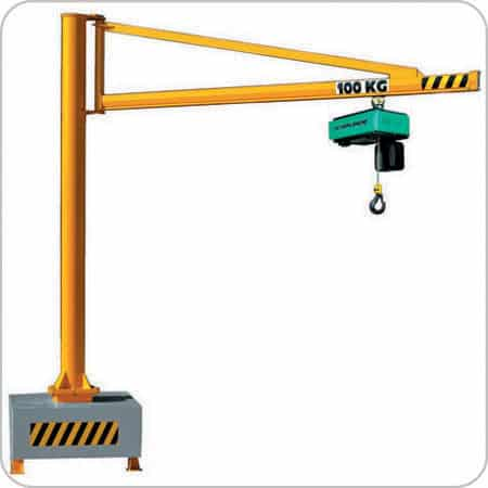 Mobile Jib Crane 250kg SWL