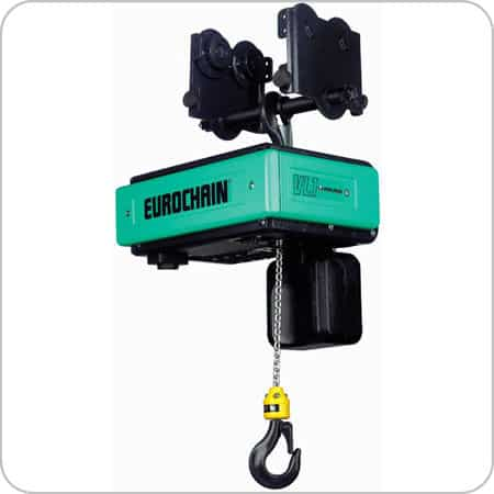 Electric Chain Hoist c/w Manual Push Trolley