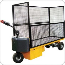 Tow Tractor with Caged Platform